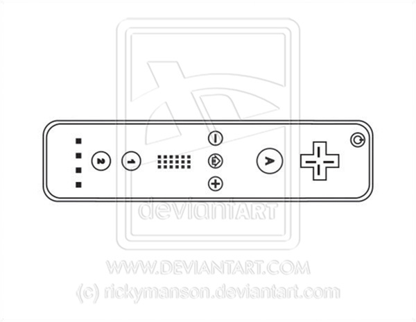 600x464 Vector Wii Controller Lineart By Rickymanson