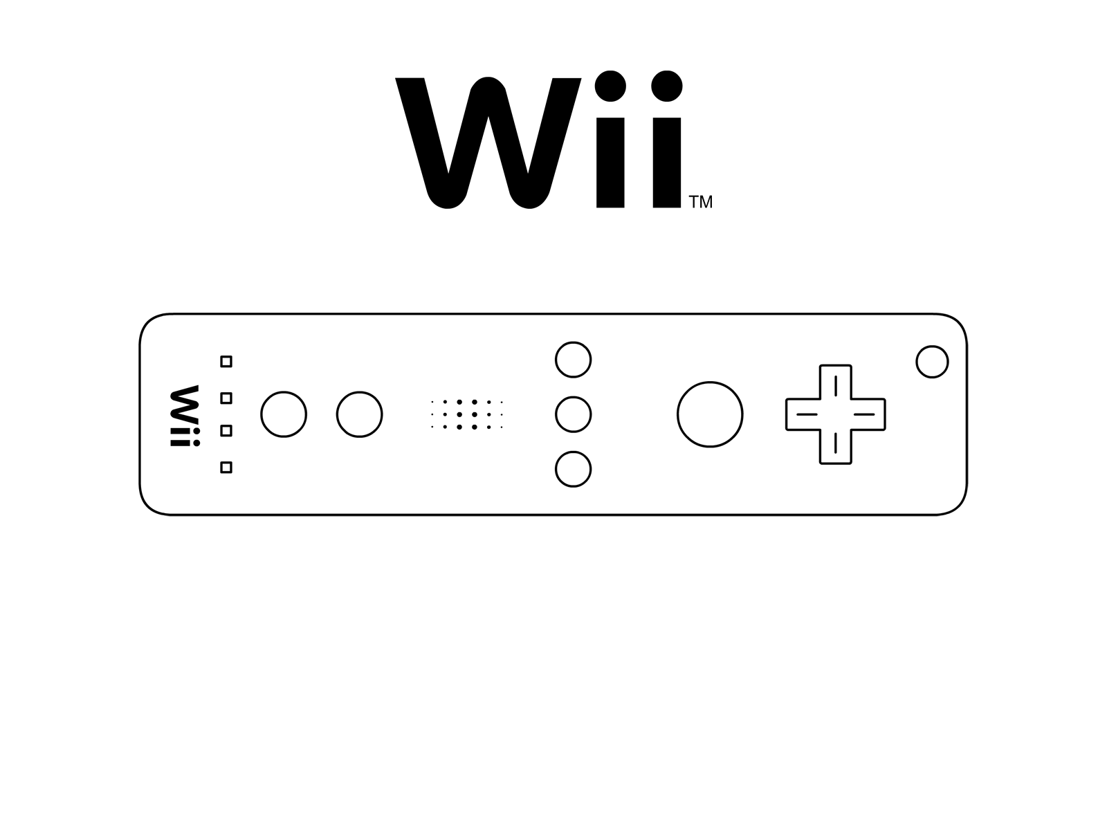 1600x1200 Collection Of Wii Remote Drawing High Quality, Free Cliparts