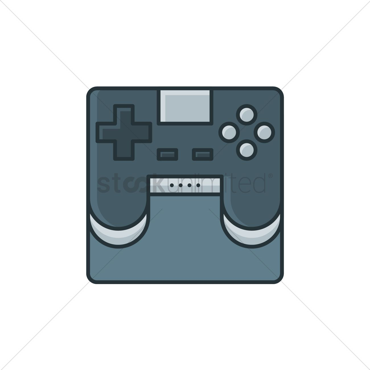 1300x1300 Video Game Controller Vector Image