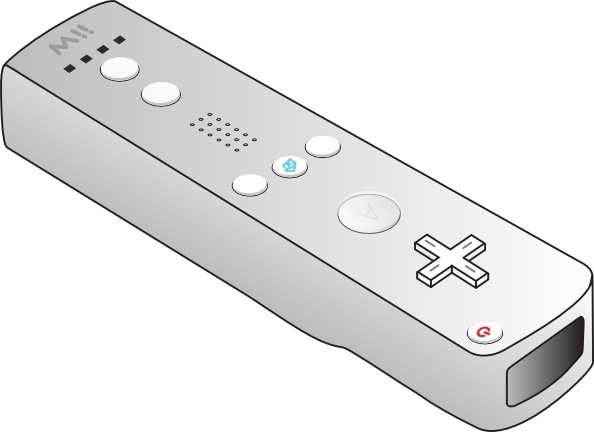 594x432 Wii Remote Clip Art Free Vector In Open Office Drawing Svg ( .svg