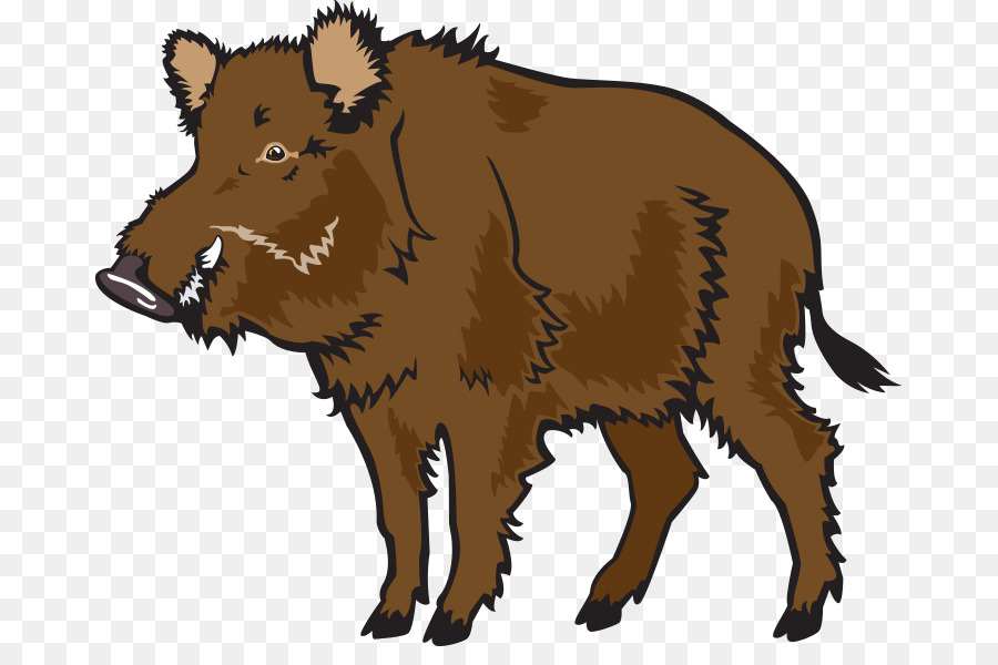 900x600 Wild Boar Common Warthog Clip Art
