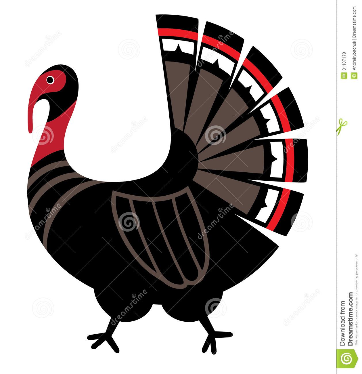 Wild Turkey Vector