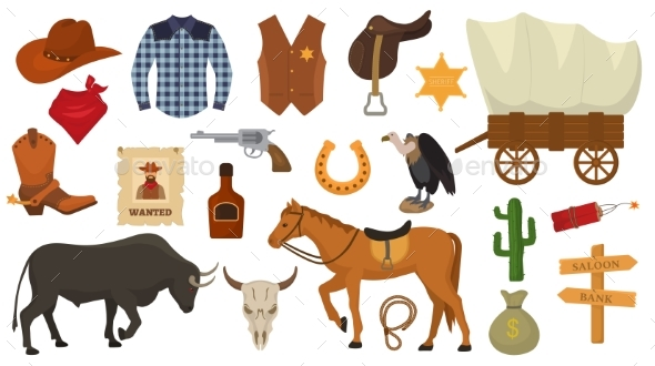 590x330 Wild West Vector Western Cowboy Or Sheriff Signs By Vectoristik
