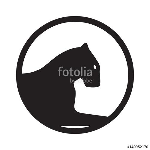 500x500 Panther Logo. Emblem, Mascot Or Team Symbol. Vector Wildcat