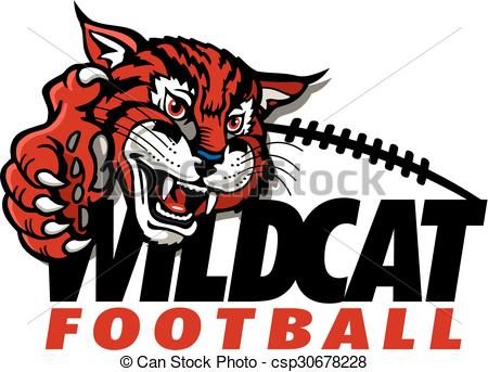 450x343 Wildcat Football Design With Mascot And Claw.