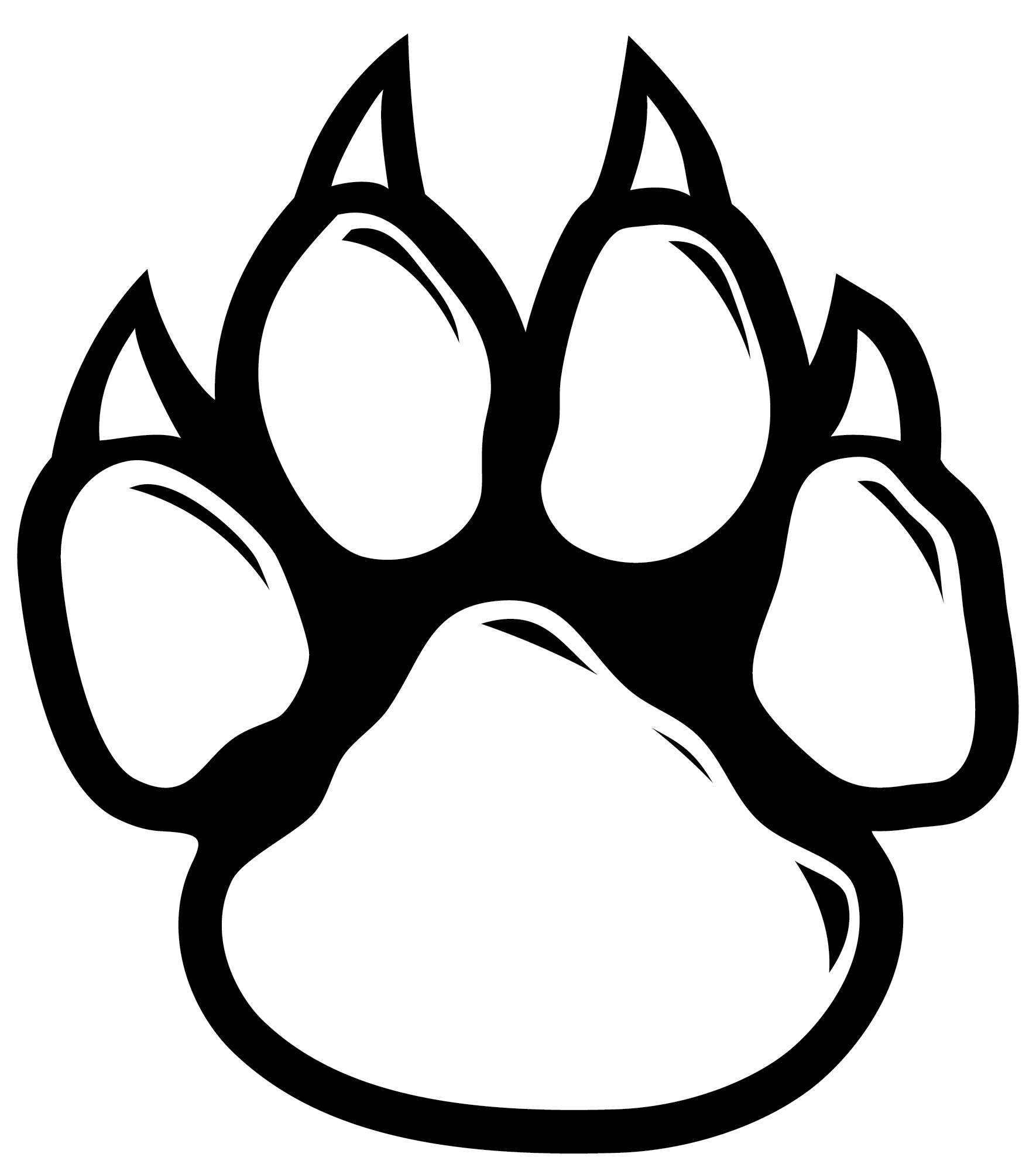 1770x2000 Collection Of Free Paw Vector Wildcat. Download On Ubisafe