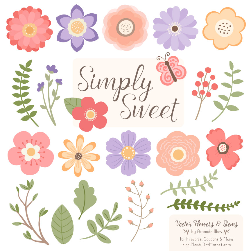 864x864 Wildflowers Flower Clipart Amp Vectors