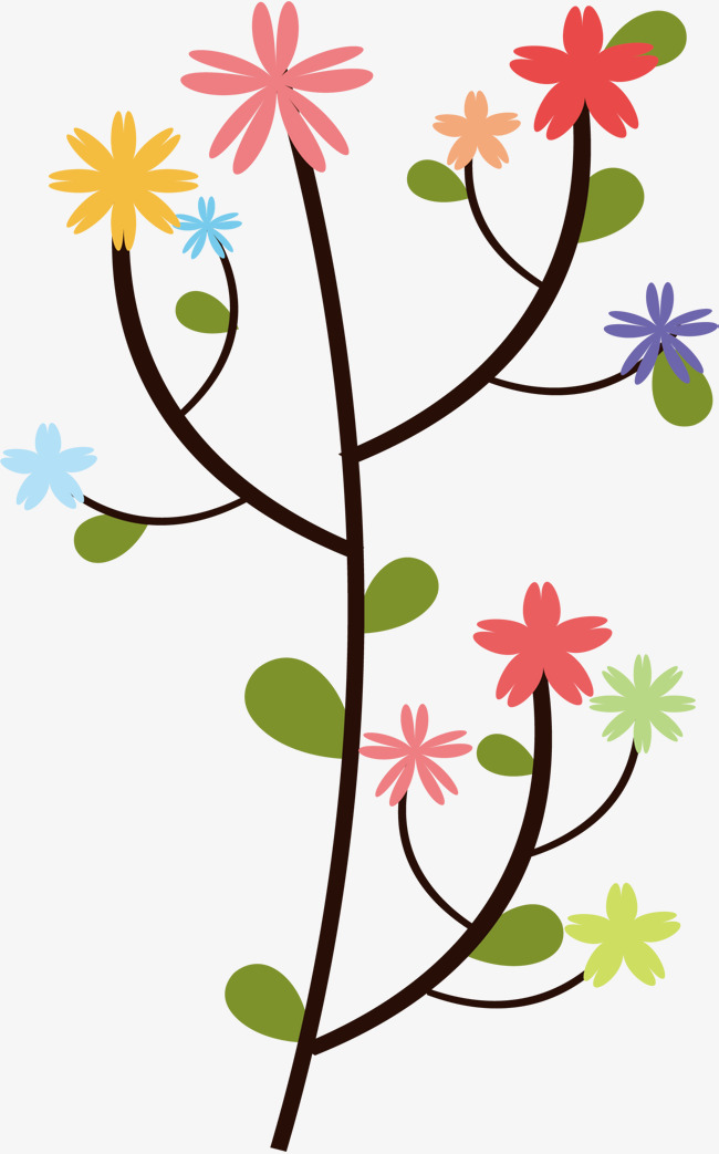 650x1043 Colorful Wildflower Flowers, Vector Png, Color Flower Rattan