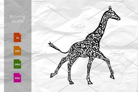 580x386 Running Giraffe. Wildlife