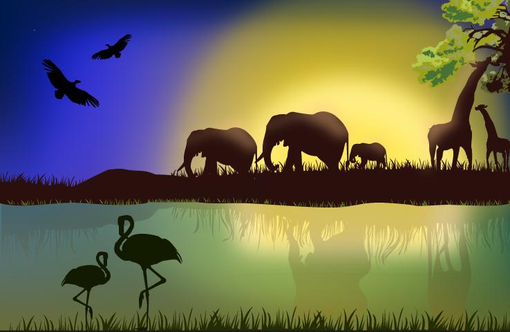 738x480 African Wildlife Free Vector Graphic Download
