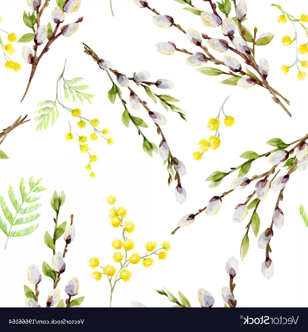 1200x1296 Watercolor Willow Tree Pattern Vector Orangiausa