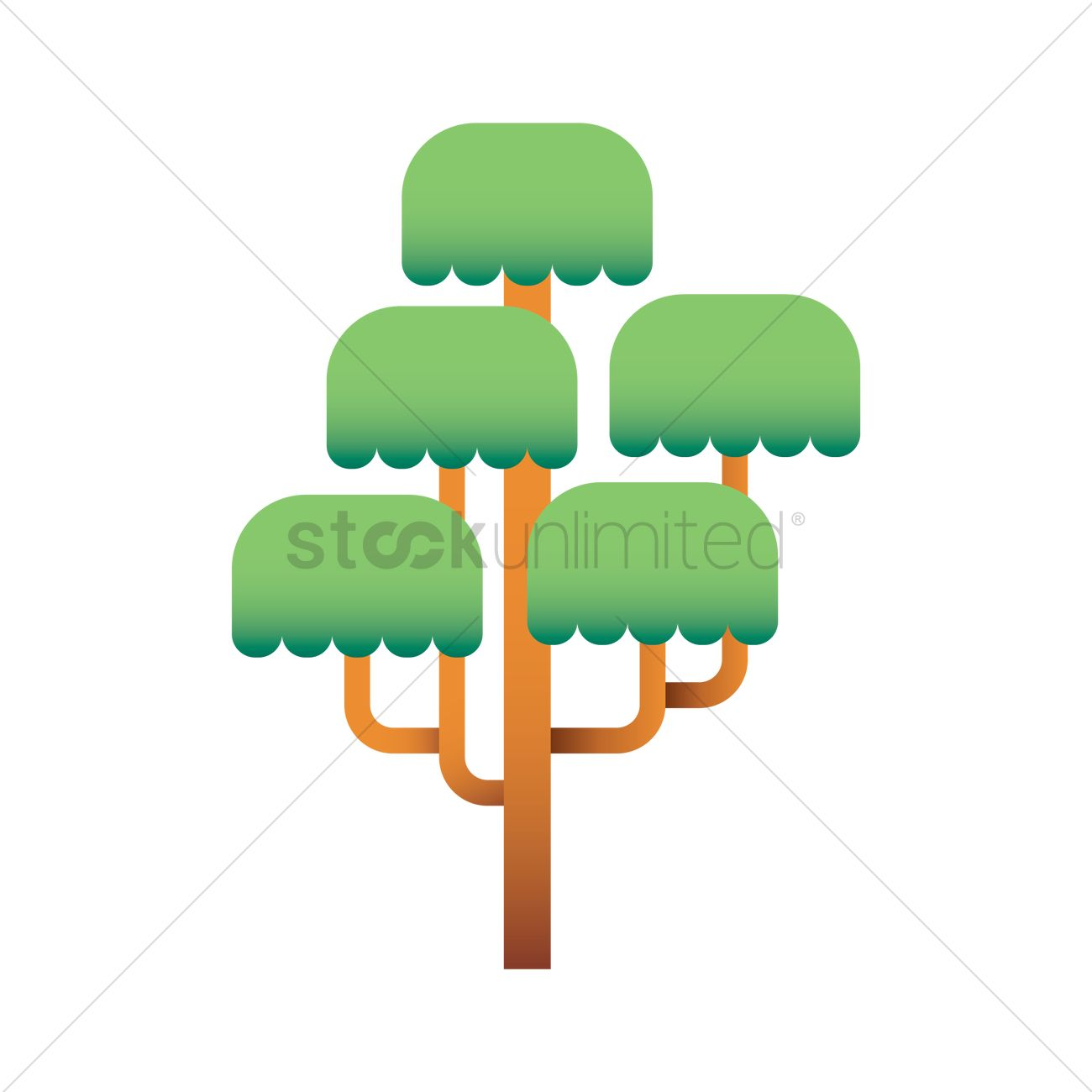 1300x1300 Weeping Willow Tree Vector Image