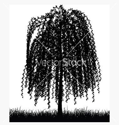 380x400 Weeping Willow Tree Vector 19733