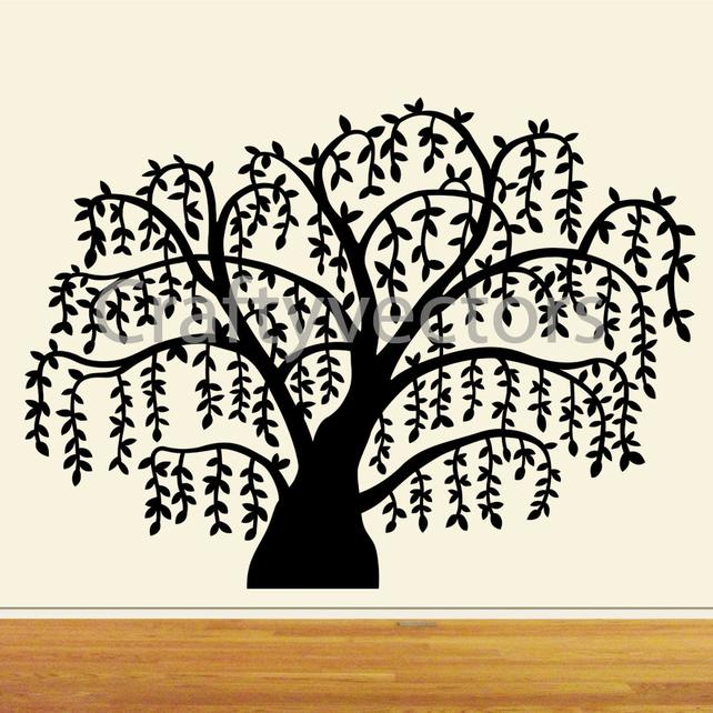 642x642 Willow Tree Vector File Svg. Etsy