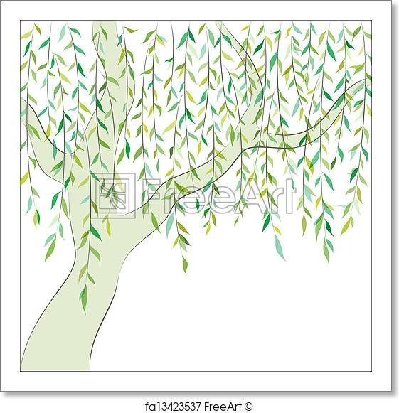 561x581 Free Art Print Of Willow. Graphic Design. Vector Background