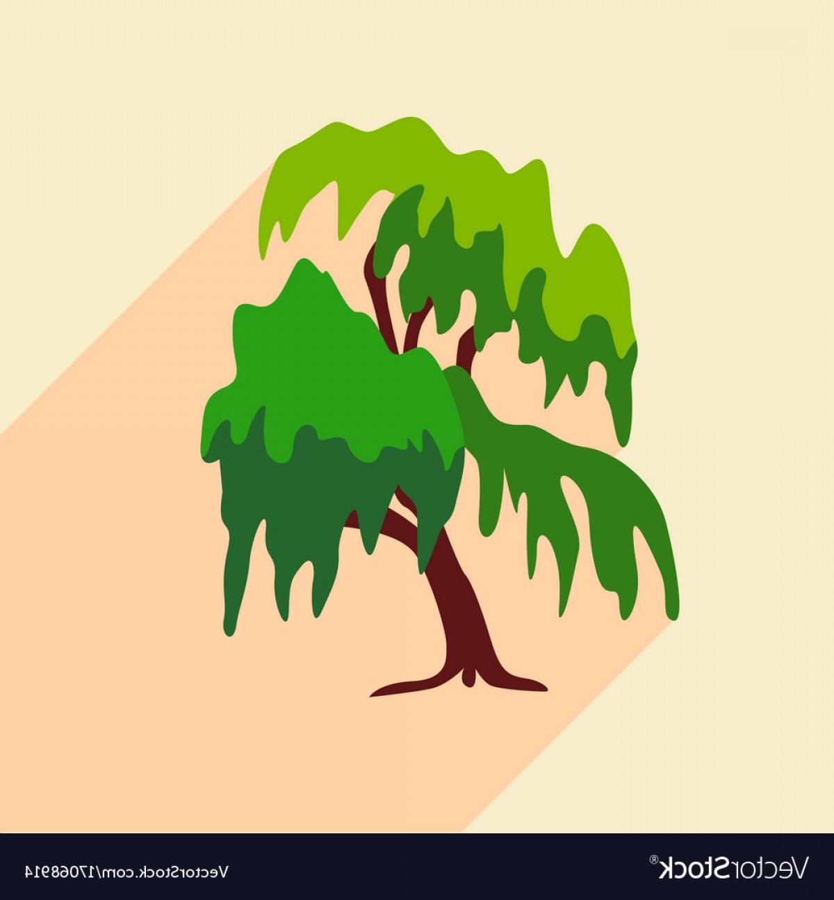1200x1296 Willow Tree Icon Flat Style Vector Orangiausa