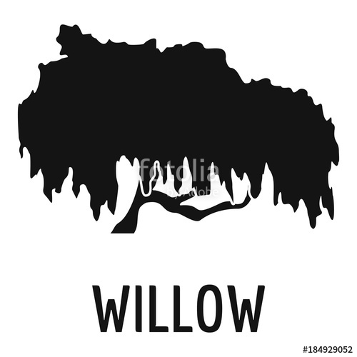 500x500 Willow Tree Icon. Simple Illustration Of Willow Tree Vector Icon