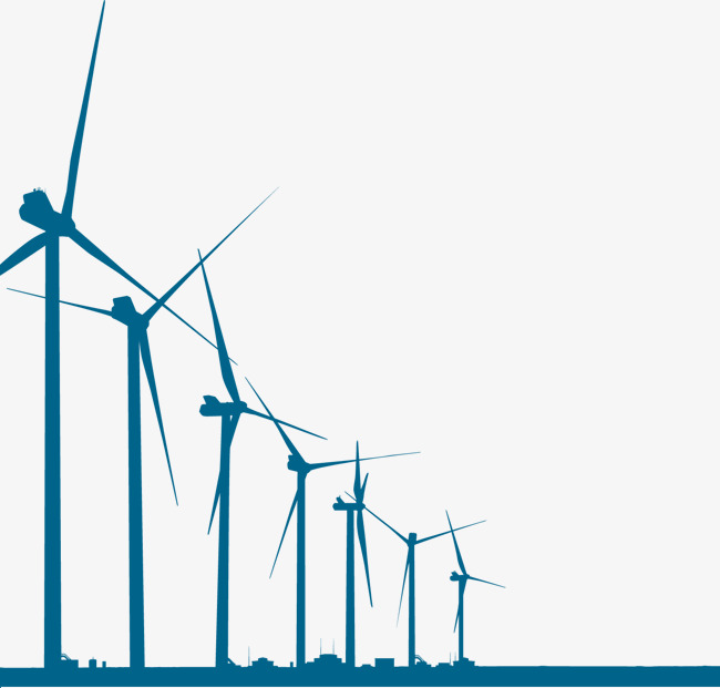 650x621 Vector Wind Turbines, Wind Turbines, Vector, Blue Png And Vector
