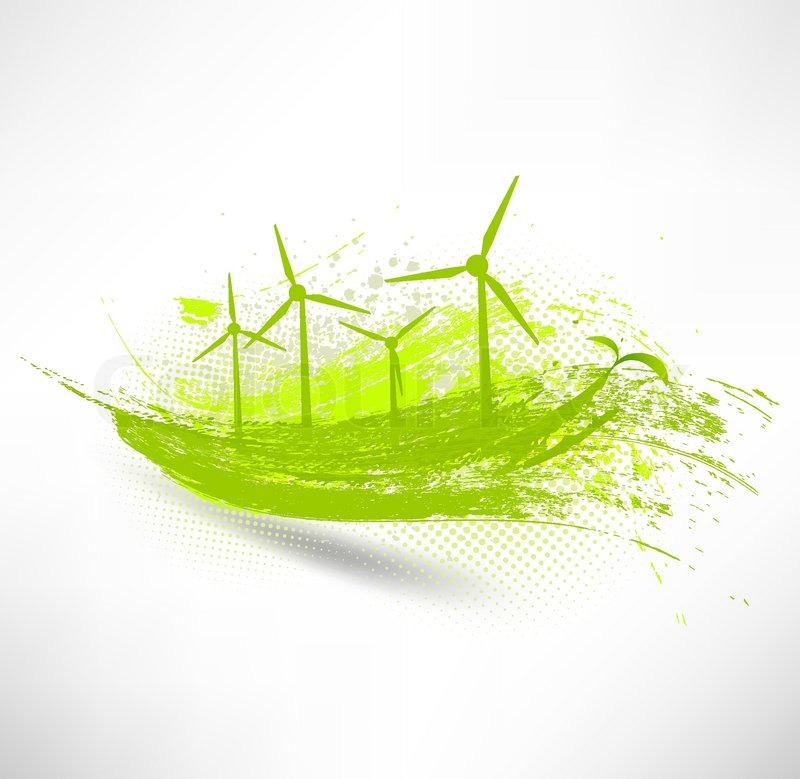 800x779 Vector Wind Turbines Concept Stock Vector Colourbox