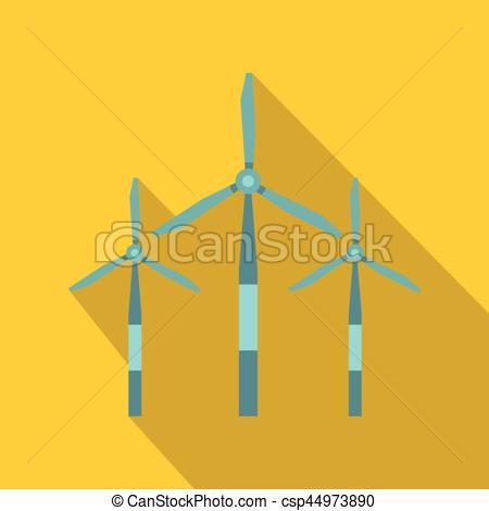 450x470 Wind Turbine Icon, Flat Style. Wind Turbine Icon. Flat