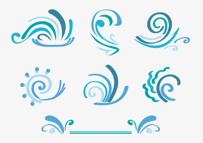 650x456 Hand Painted Wind Vector Icons, Wind Vector, Windy, Vector Png And