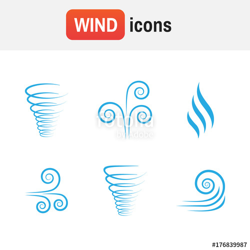 500x500 Air Wave Vector. Illustration Vector Of Wind Icon Collection