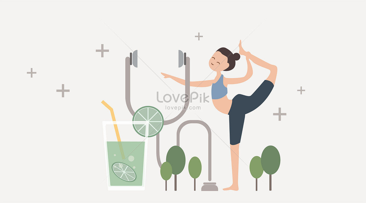 1200x667 Yoga Fresh Wind Vector Illustration Photo Image Picture Free