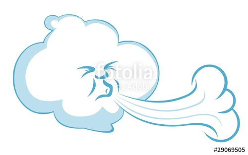 500x313 Blowing Wind Character Stock Image And Royalty Free Vector Files