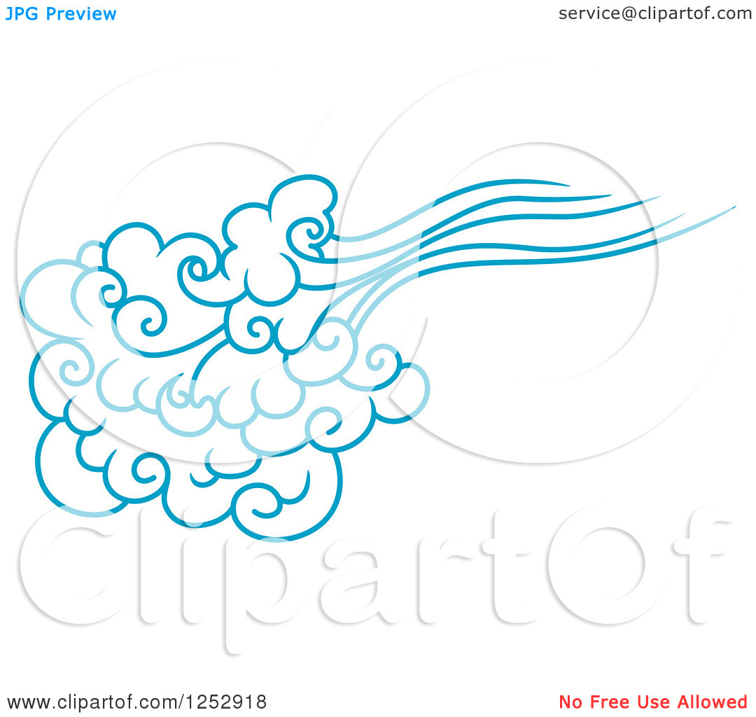 1080x1024 Blue Wind Clipart