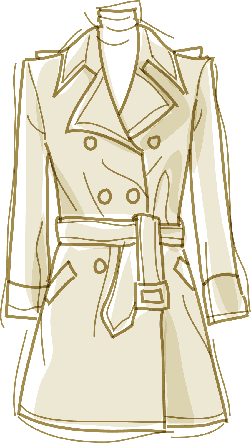 853x1502 Trench Coat Dress Windbreaker