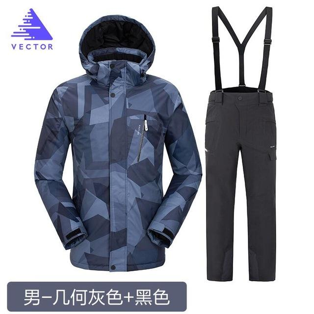640x640 Vector Brand Unisex Autumn Winter Waterproof Ski Suit Men