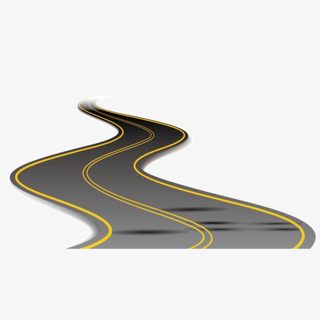 650x651 Vector Rugged Winding Road, Vector Asphalt, Winding Road, Vector