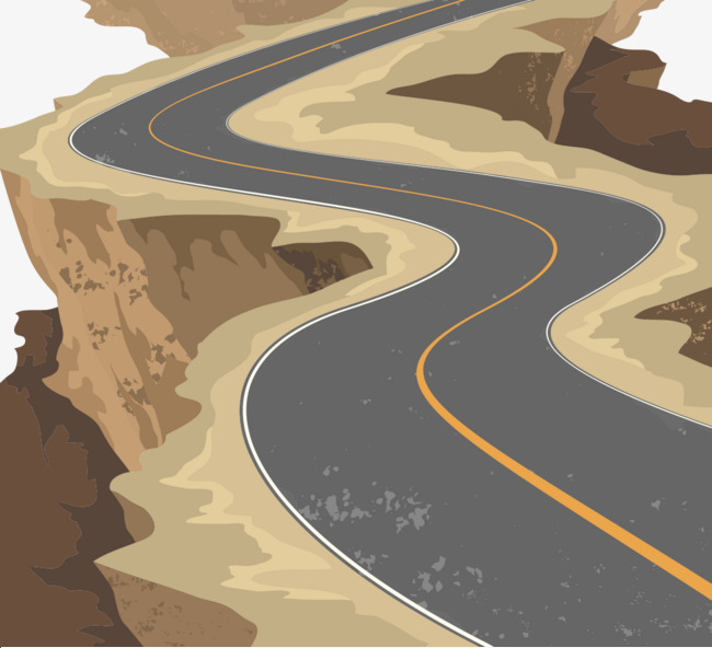 650x592 Winding Road Vector Material, Road Vector, Highway, Vector Png And