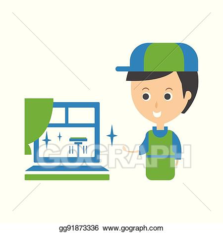 450x470 Service Clipart Window Cleaner ~ Frames ~ Illustrations ~ Hd