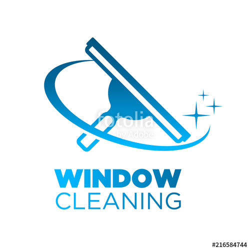 500x500 Window Washing Cleaning Squeegee Logo Icon Stock Image And