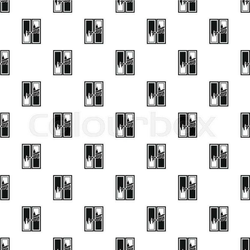800x800 Window Cleaning Pattern. Simple Illustration Of Window Cleaning