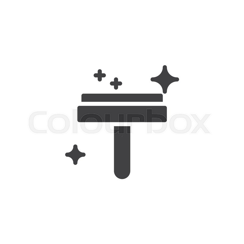 800x800 Glass Cleaner Vector Icon. Filled Flat Sign For Mobile Concept And