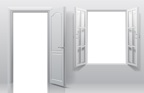 500x323 White Doors With Window Vector Template Free Download