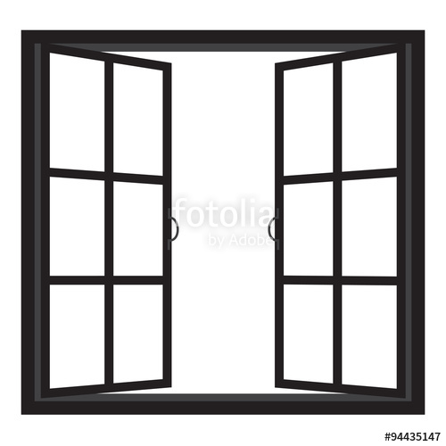 500x500 Windows Half Open Window Vector Stock Image And Royalty Free