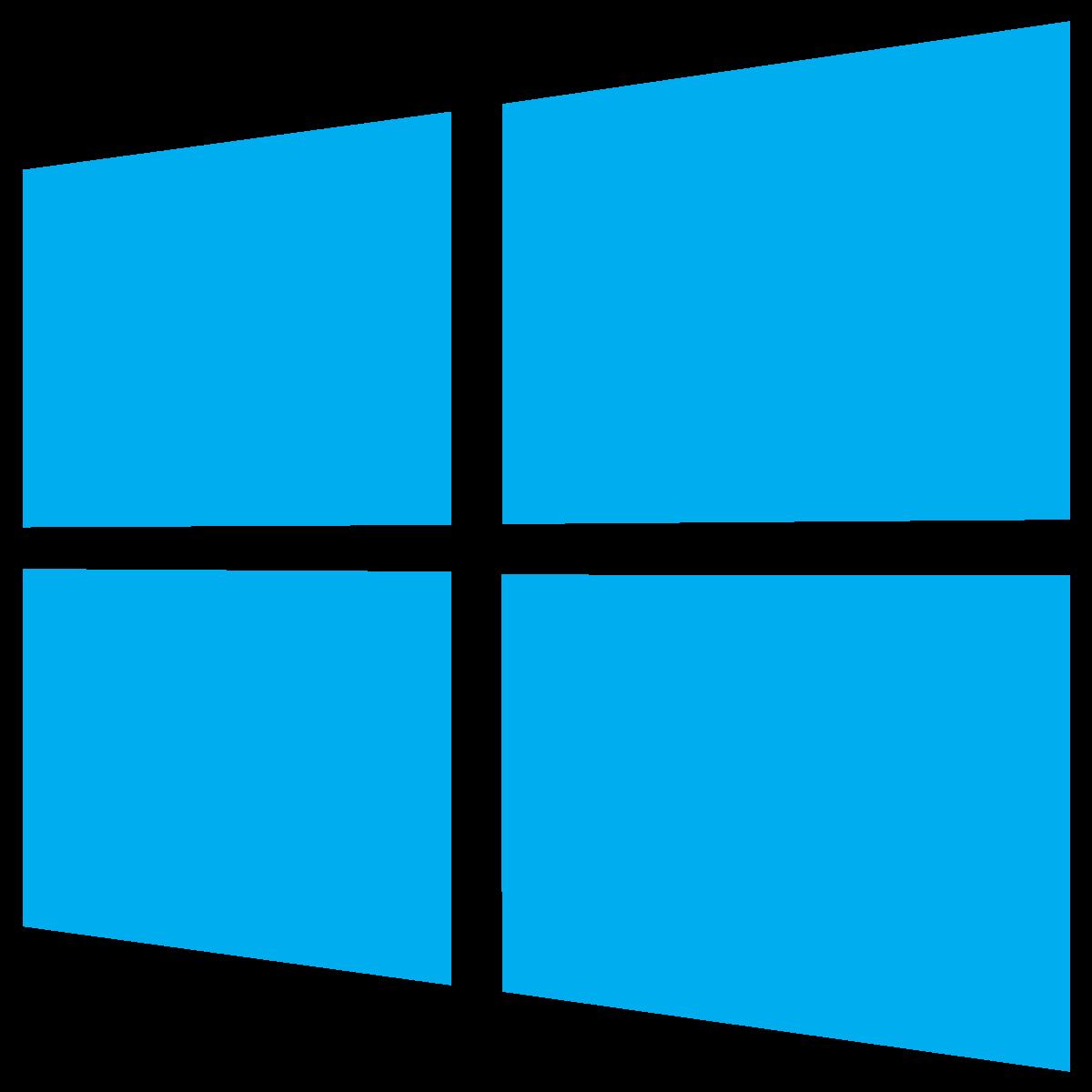 1200x1200 Microsoft Windows 10 Icon Logo Vector Free Vector Silhouette