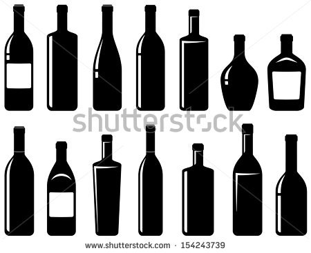 450x367 Bottle Clipart Wine Bottle Outline