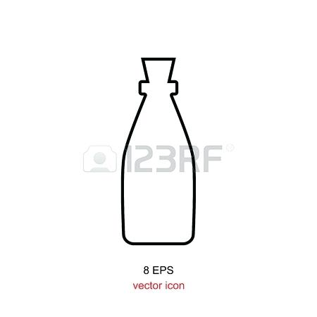450x450 Bottle Silhouette Wine Bottle Silhouettes Vector Background Beer