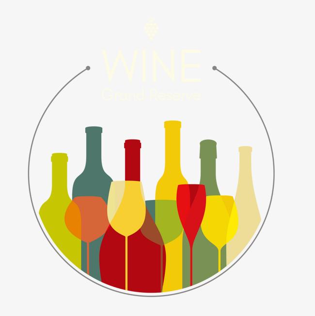 650x651 Vector Art Sense Of Wine Bottles And Wine Glasses, Wine Vector