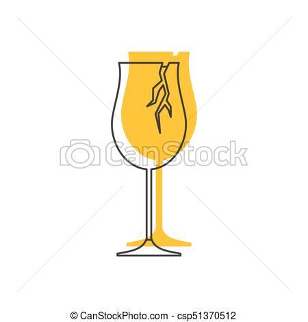 450x470 Broken Wine Glass Icon, Doodle Style. Broken Wine Glass Icon
