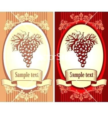 Wine Label Template Vector