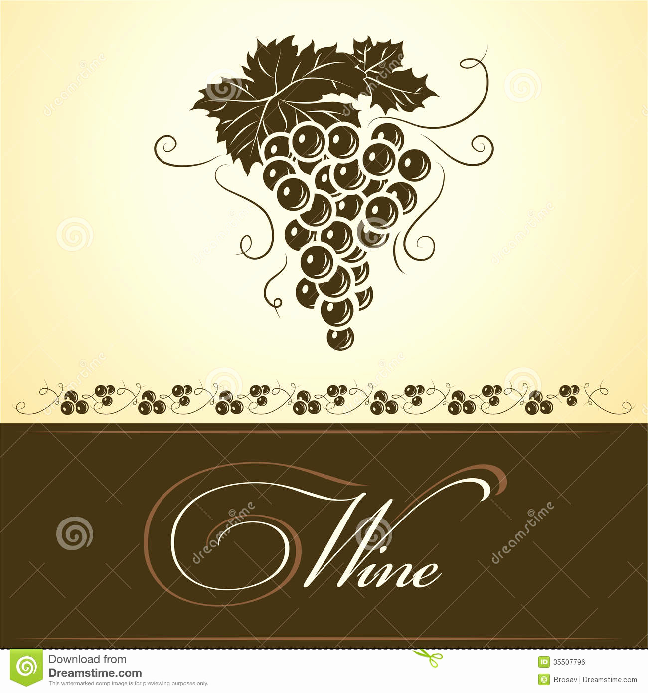 1300x1390 Free Wine Bottle Label Template Beautiful Bunch Grapes For Labels