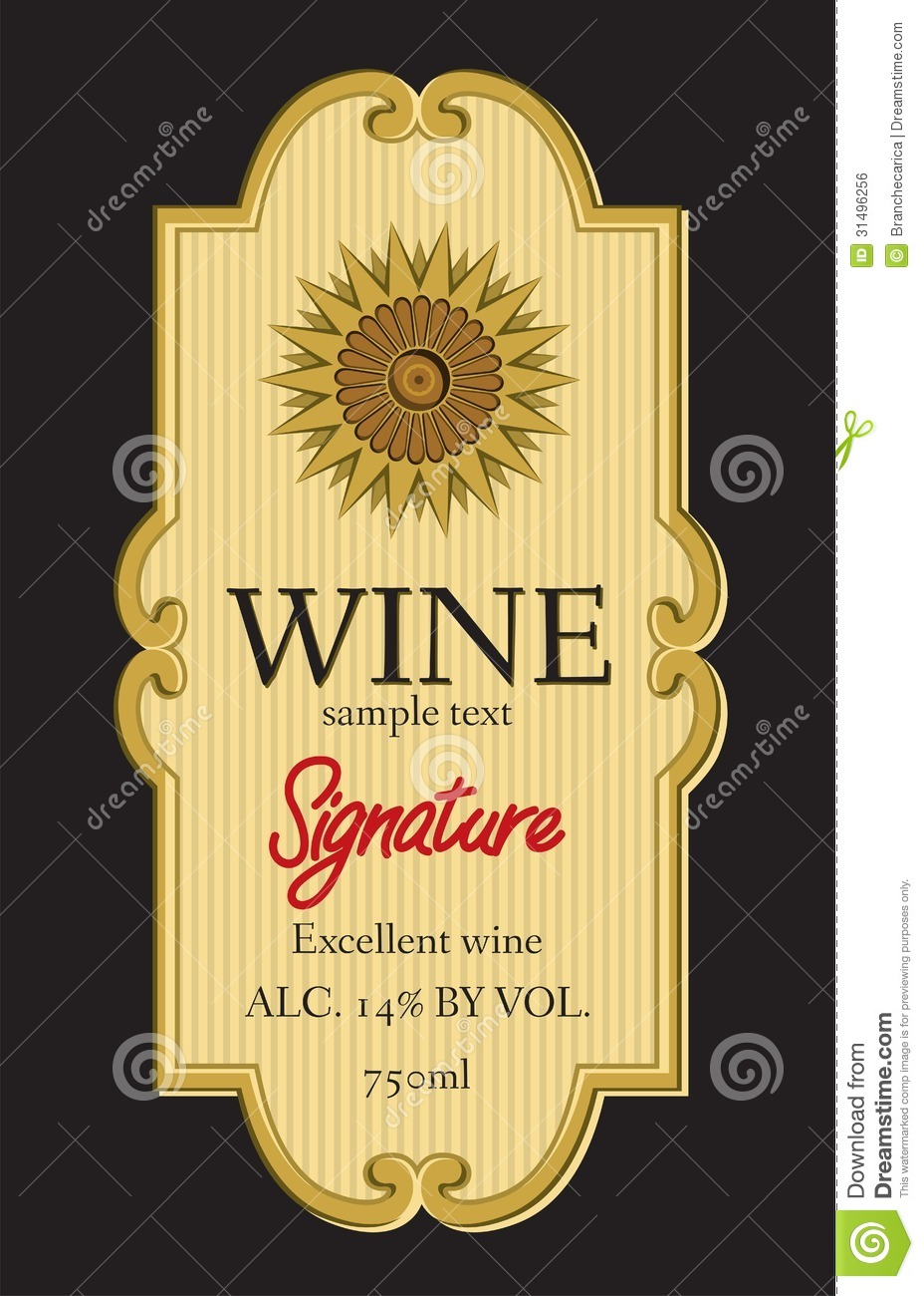 image relating to Free Printable Wine Bottle Label called wine bottle label template -