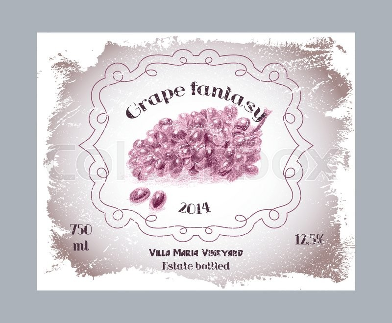 800x659 Vintage Fruit Alcohol Labels. Template Grape Vodka, Liquor Or Wine