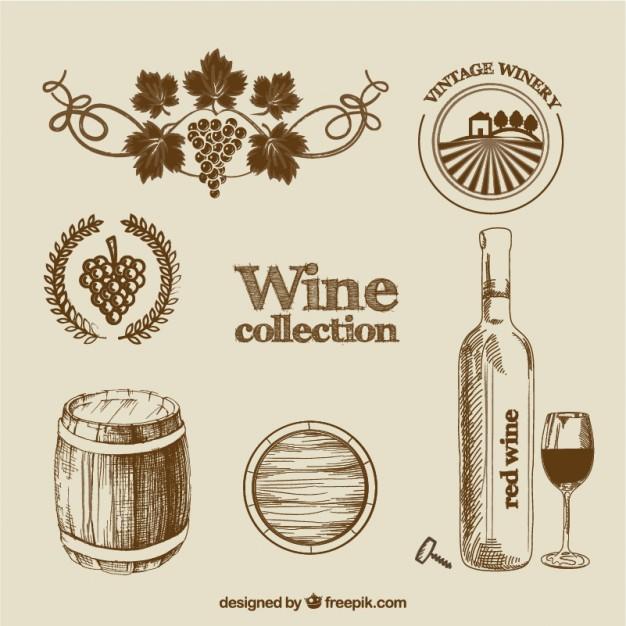 626x626 Wine Barrel Vectors S And Psd Files Wine Label Template Vector