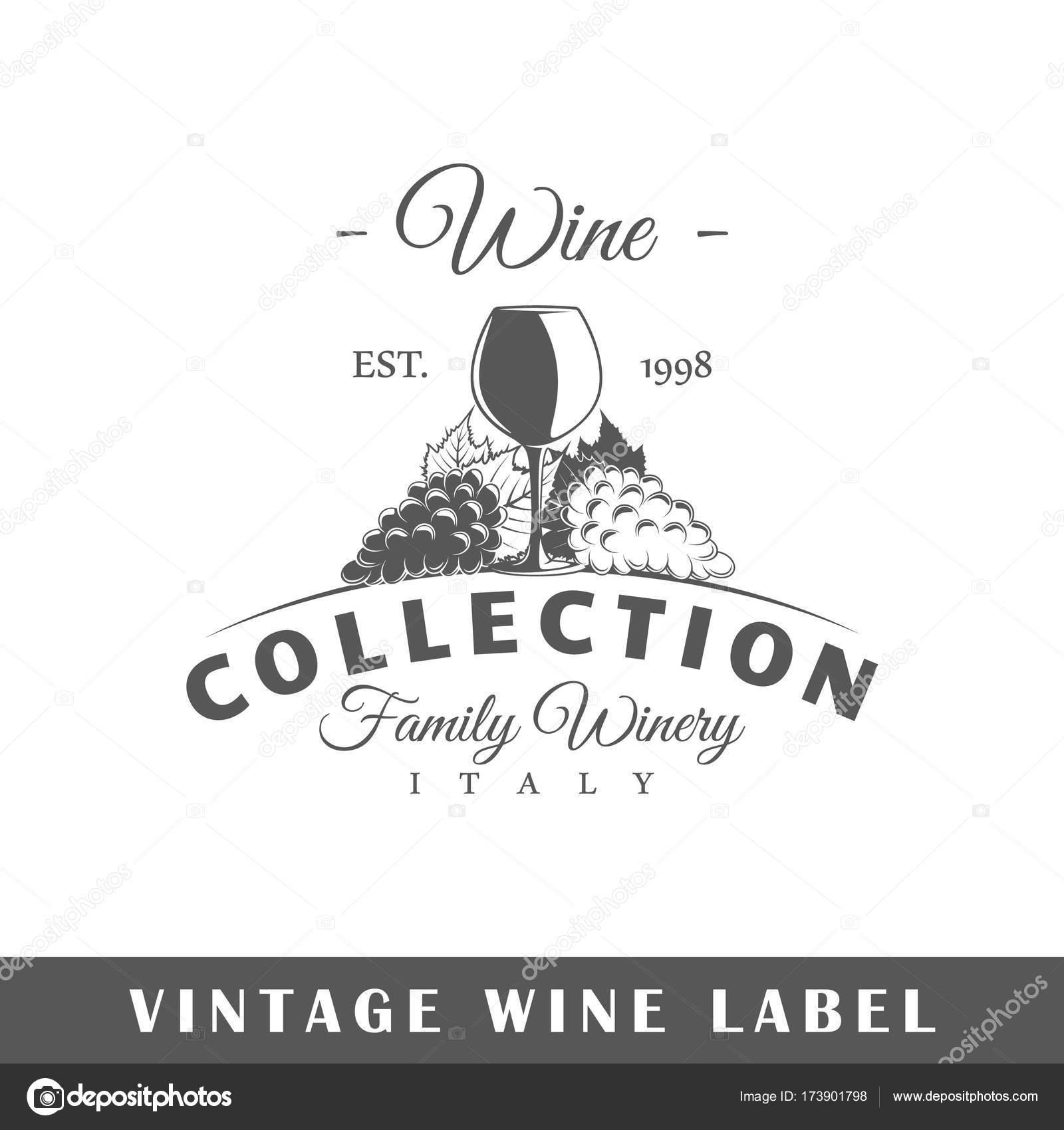 1600x1700 Wine Label Template Vector 10159666